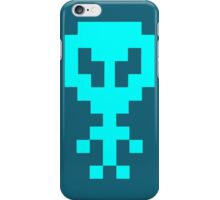 Pixel Space Alien - Light Blue iPhone Case/Skin