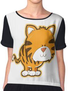 Cute baby tiger Chiffon Top