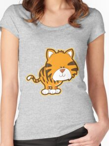Cute baby tiger Women's Fitted Scoop T-Shirt