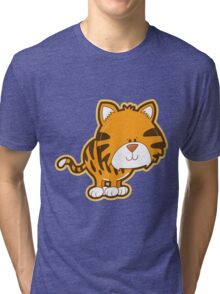 Cute baby tiger Tri-blend T-Shirt