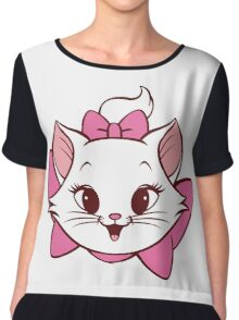 Lovely cat design Chiffon Top