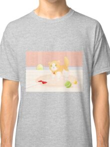 Cat playing in home Classic T-Shirt