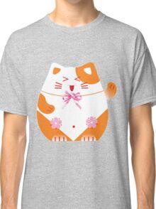 Fat cat sitting art Classic T-Shirt