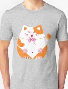 Fat cat sitting art T-Shirt