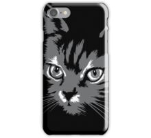 Black cat cartoon silhouetteCat silhouette cat silhouette iPhone Case/Skin