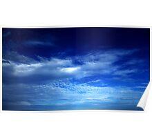 Dark Blue Evening Sky Poster