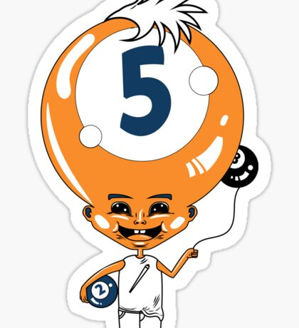 5 Head Sticker
