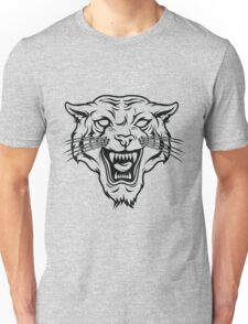 Angry tiger silhouette head Unisex T-Shirt