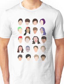 youtuber flat design collage Unisex T-Shirt