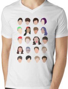 youtuber flat design collage Mens V-Neck T-Shirt