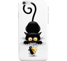 Amusing black cat iPhone Case/Skin