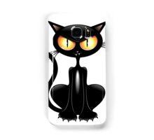 Amusing black cat Samsung Galaxy Case/Skin