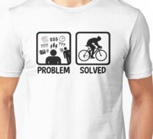Funny Problem Solved Cycling Unisex T-Shirt