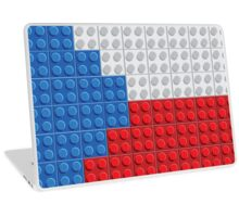 Czech flag lego pattern of plastic parts Laptop Skin