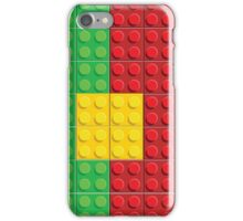 Lego - Portugal flag pattern of plastic parts iPhone Case/Skin