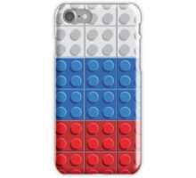 Lego - Russia flag pattern of plastic parts iPhone Case/Skin