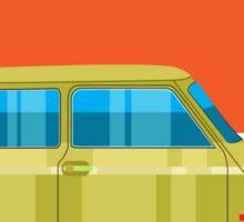Mini Cooper - pop art car Sticker
