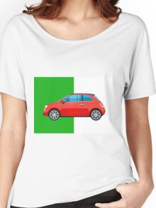 Fiat 500 pop art car Women's Relaxed Fit T-Shirt