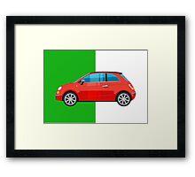 Fiat 500 pop art car Framed Print