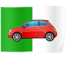 Fiat 500 pop art car Poster