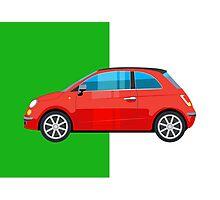 Fiat 500 pop art car Photographic Print