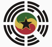 Korean Ghanaian Multinational Patriot Flag Series Baby Tee