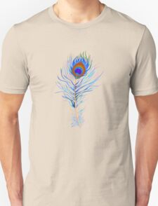 Peacock feather watercolor T-Shirt