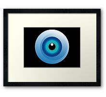 human eye design Framed Print
