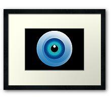 human eye design Framed Print