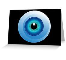 human eye design Greeting Card