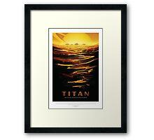 NASA - Titan Framed Print