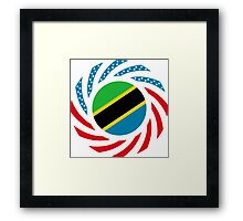 Tanzanian American Multinational Patriot Flag Series Framed Print