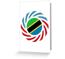 Tanzanian American Multinational Patriot Flag Series Greeting Card