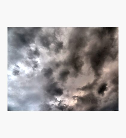 Sea storm clouds looming Photographic Print