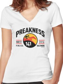 Preakness 2016 Women's Fitted V-Neck T-Shirt
