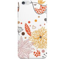 Combination of exquisite bird pattern iPhone Case/Skin