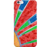 Green and Blue Sun Rays iPhone Case/Skin