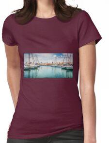 El Puerto. de El Campello Womens Fitted T-Shirt