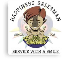 Certified Happiness Salesman  Canvas Print
