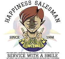 Certified Happiness Salesman  Photographic Print