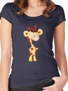 Cool Giraffe Women's Fitted Scoop T-Shirt