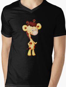 Cool Giraffe Mens V-Neck T-Shirt