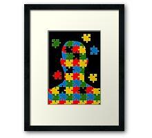 puzzle head design Framed Print