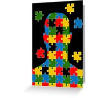 puzzle head design Greeting Card