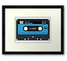 Cassette - vintage audio tapes Framed Print