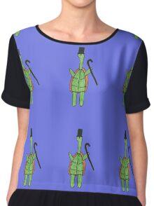 Classy Turtle Chiffon Top