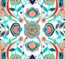 Modern Folk in Jewel Colors Sticker