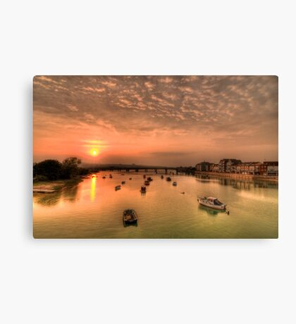 Adur Sunset Canvas Print