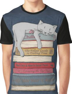 How to Chill Like a Cat Graphic T-Shirt