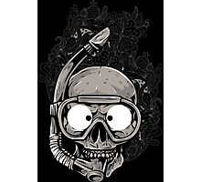 Diver Skull Photographic Print
